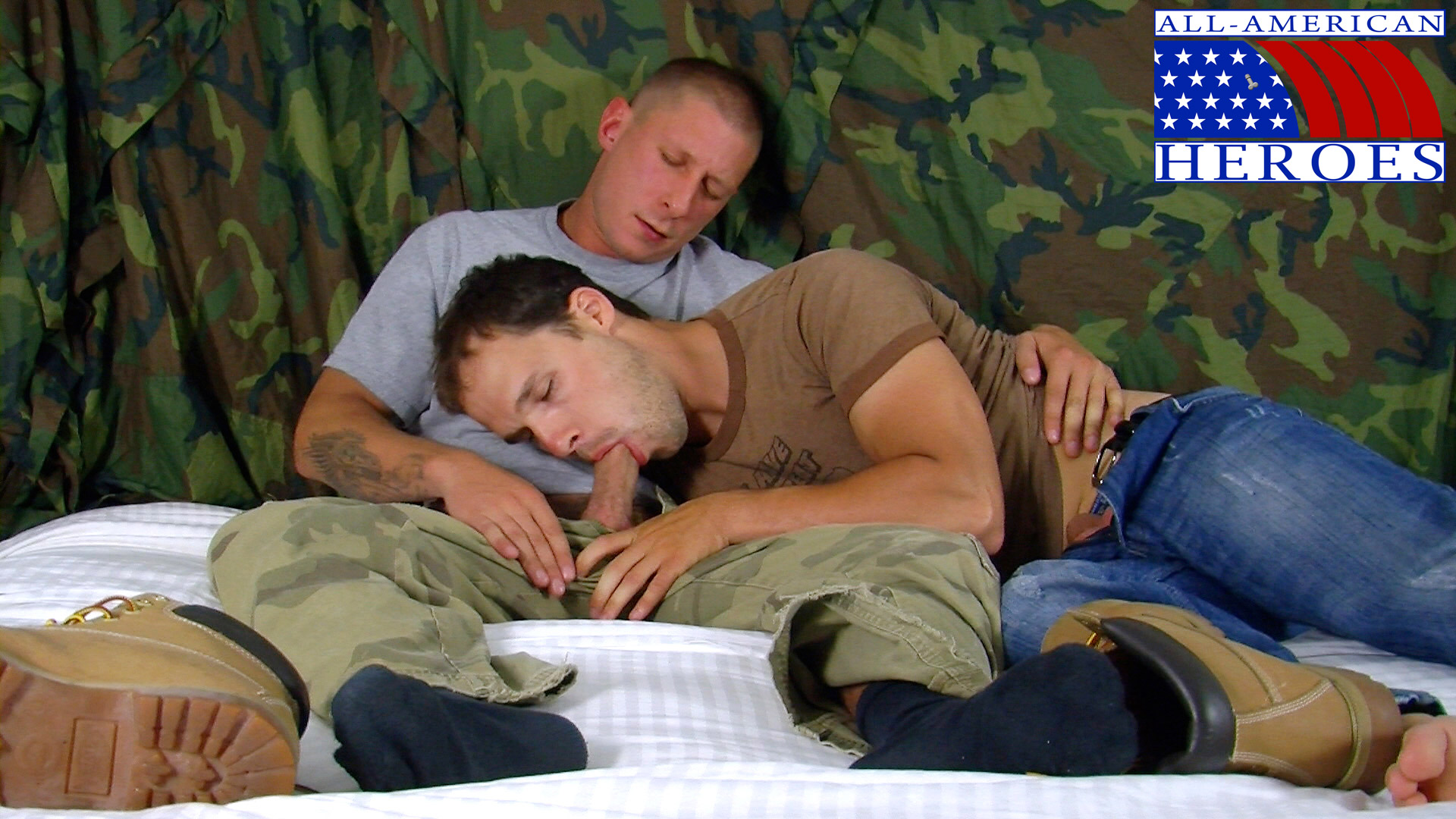 All-American-Hereos-Petty-Officer-Chris-fuck-Private-Tyler-13 Amateur Straight Navy Petty Officer Fucks a Straight Army Private