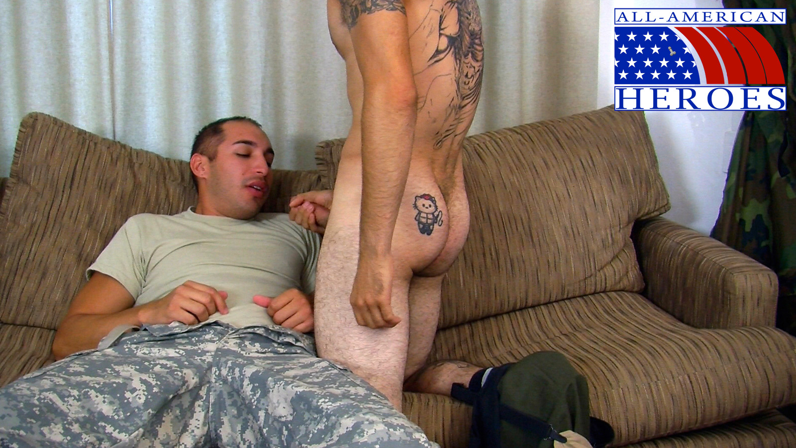 All American Heroes LANCE CORPORAL MORGIES FIRST GAY BLOWJOB 12 Real Straight Marine Gets His First Blowjob From Another Marine
