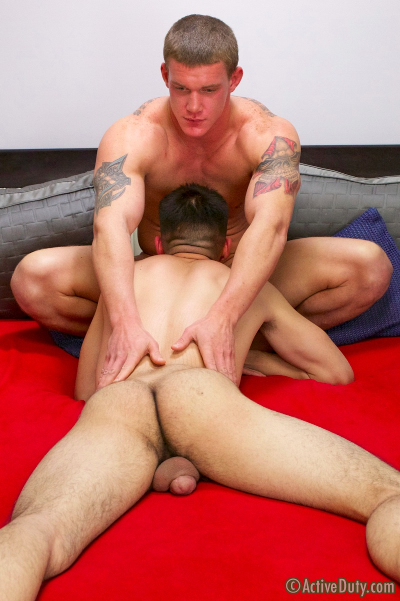 ActiveDuty-Grayson-and-Tanner-First-Time-Bottom-Army-Amateur-Gay-Porn-08 Amateur Army Anal Virgin Loses His Cherry To His Army Buddy