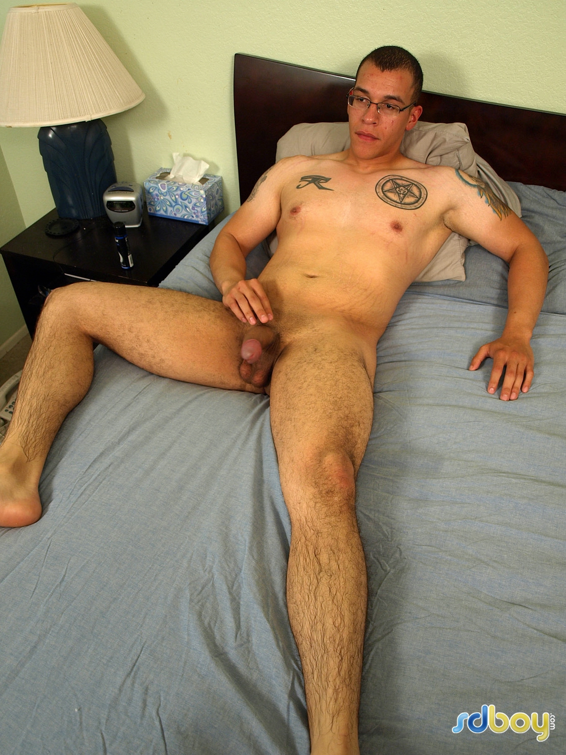 SD-Boy-Ray-Sosa-Big-Uncut-Cock-Latino-Marine-Masturbating-Amateur-Gay-Porn-07 Amateur Gay Latino Marine Shows His Tatts and Jerks His Uncut Cock