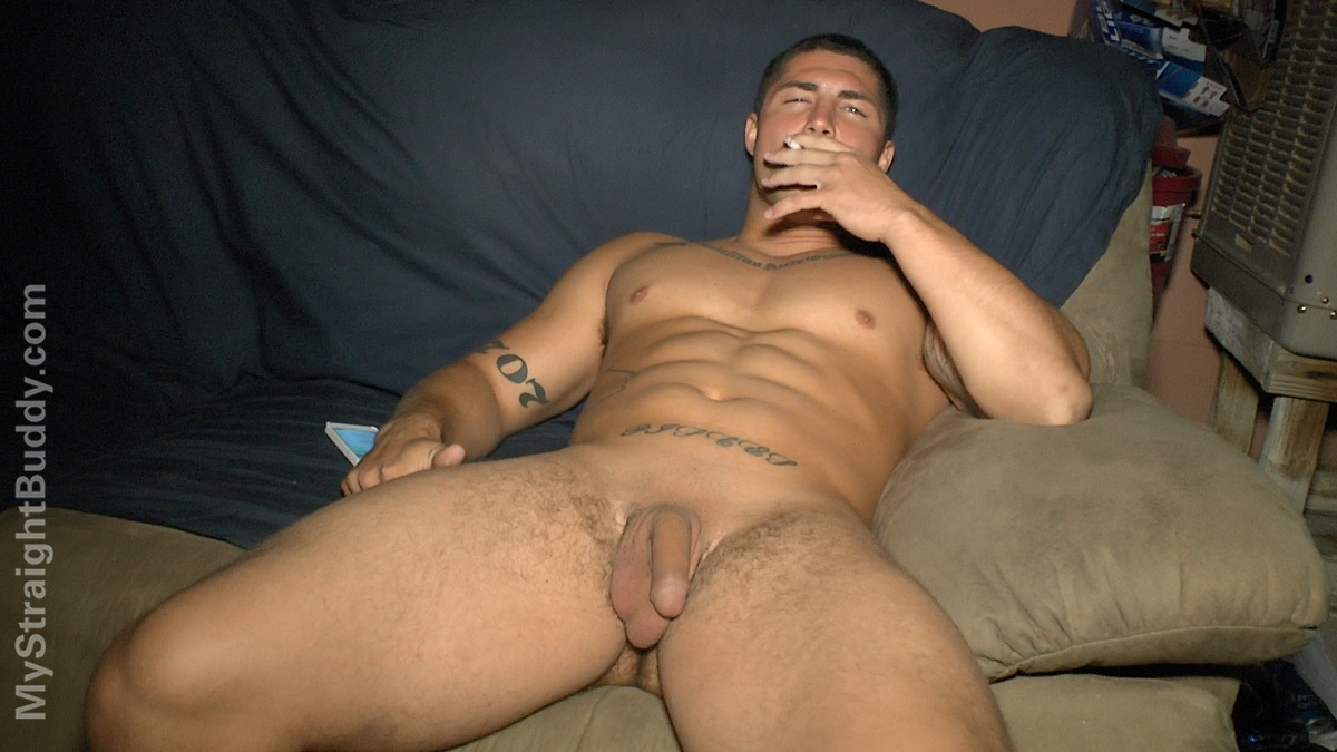 Drunk straight guy caught naked