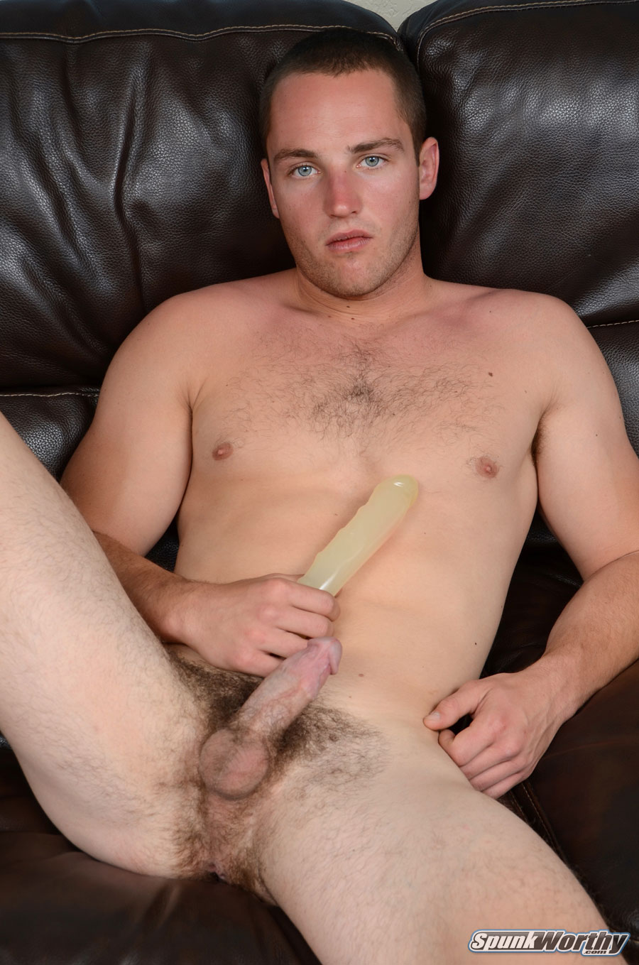 SpunkWorthy-Dean-Straight-Marine-Uses-A-Dildo-On-Hairy-Ass-Amateur-Gay-Porn-03 Ripped Marine Fucks His Straight Hairy Ass With A Dildo