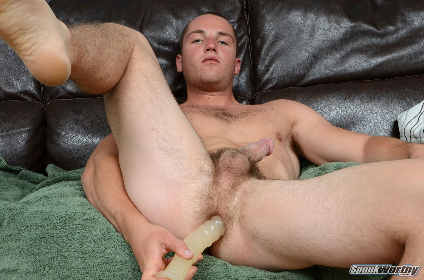 SpunkWorthy-Dean-Straight-Marine-Uses-A-Dildo-On-Hairy-Ass-Amateur-Gay-Porn-05 Ripped Marine Fucks His Straight Hairy Ass With A Dildo