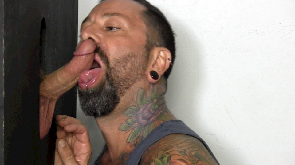 Straight guys gay glory hole