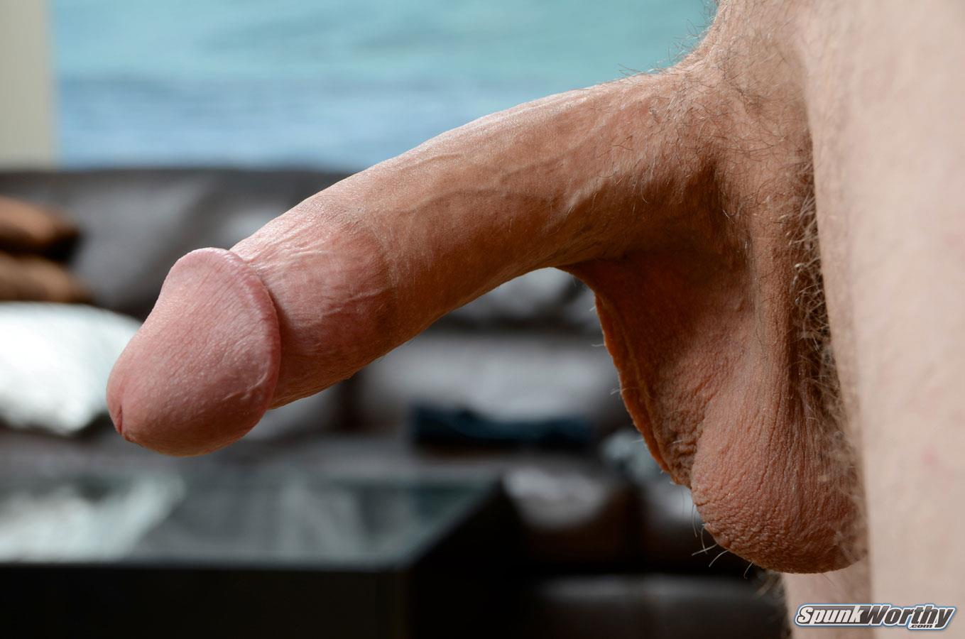 SpunkWorthy-Dane-Tatted-Marine-Masturbating-8-Inch-Cock-Amateur-Gay-Porn-09 Amateur Straight Tatted Marine Jerking His Big 9