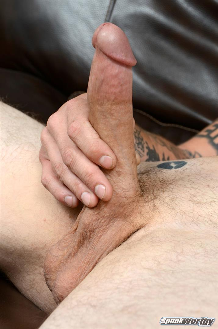 SpunkWorthy-Dane-Tatted-Marine-Masturbating-8-Inch-Cock-Amateur-Gay-Porn-14 Amateur Straight Tatted Marine Jerking His Big 9