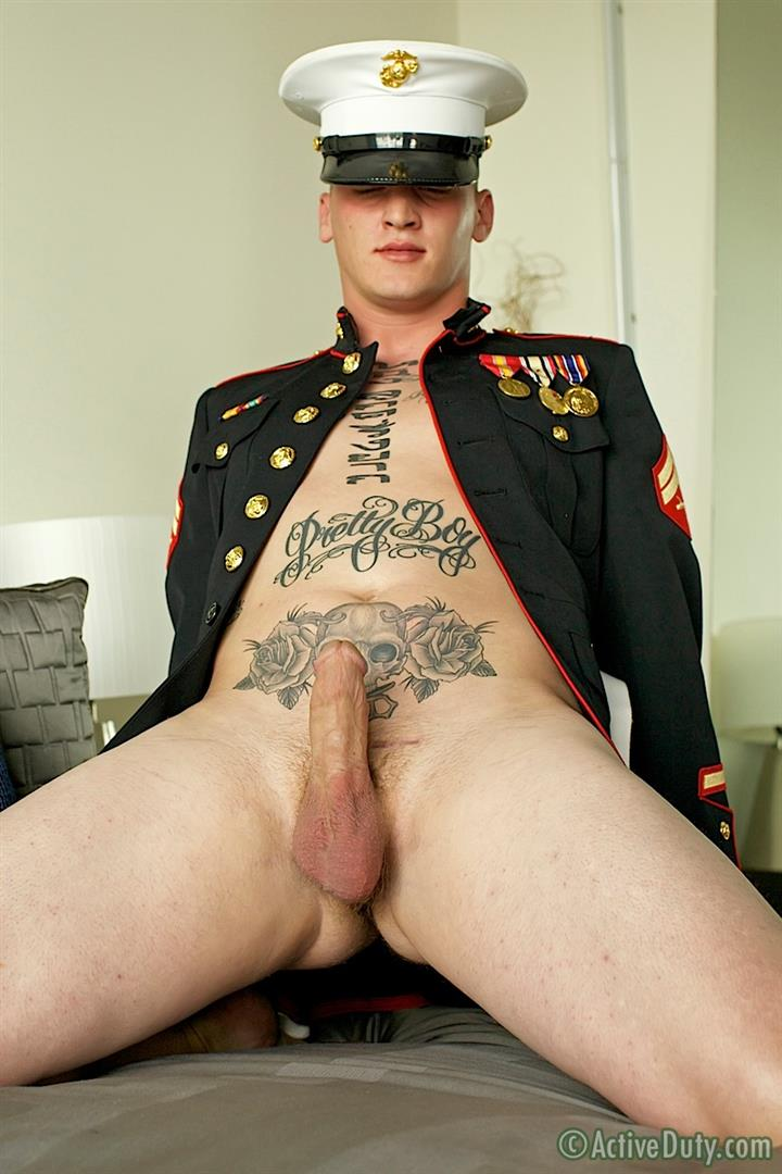 ActiveDuty Marine Quinn Straight Marine Jerking Off Thick Cock Amateur Gay Porn 20 Real Tatted Straight Marine Jerking His Thick Cock