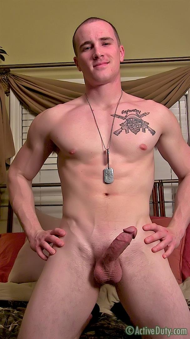 ActiveDuty Orion Ripped Army Guy Jerking His Big Cock Amateur Gay Porn 16 Straight US Army Soldier Orion Jerking His Thick Cock