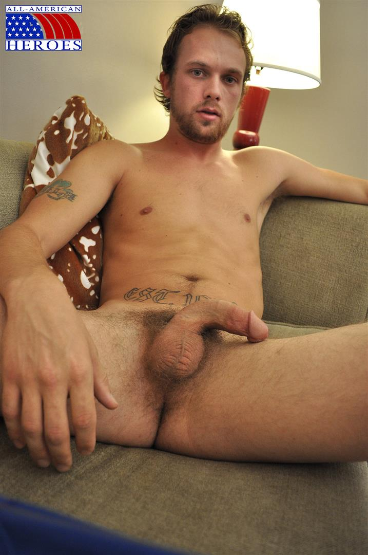 All American Heroes US Army Specialist Clark Jerking His Big Hairy Cock Amateur Gay Porn 05 US Army Specialist Masturbating His Hairy Curved Cock