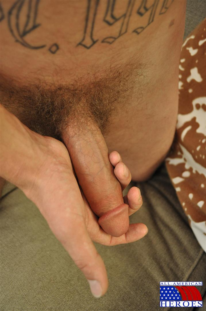All American Heroes US Army Specialist Clark Jerking His Big Hairy Cock Amateur Gay Porn 07 US Army Specialist Masturbating His Hairy Curved Cock