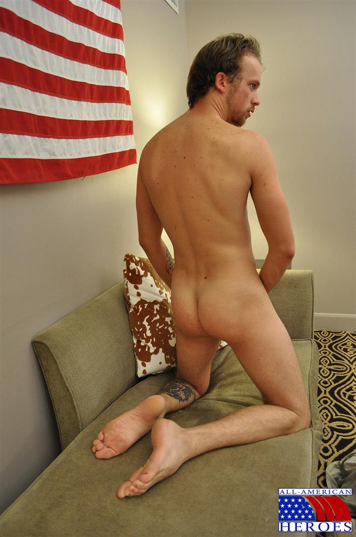 All American Heroes US Army Specialist Clark Jerking His Big Hairy Cock Amateur Gay Porn 08 US Army Specialist Masturbating His Hairy Curved Cock