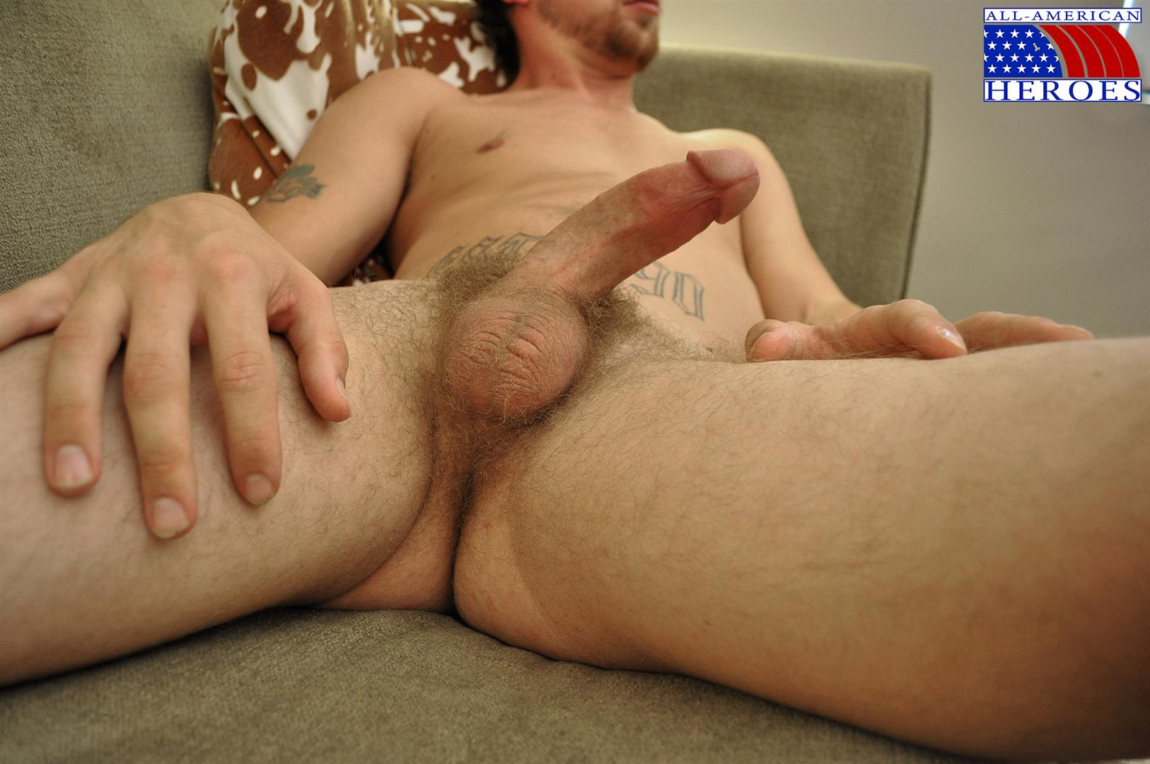 All-American-Heroes-US-Army-Specialist-Clark-Jerking-His-Big-Hairy-Cock-Amateur-Gay-Porn-11 US Army Specialist Masturbating His Hairy Curved Cock
