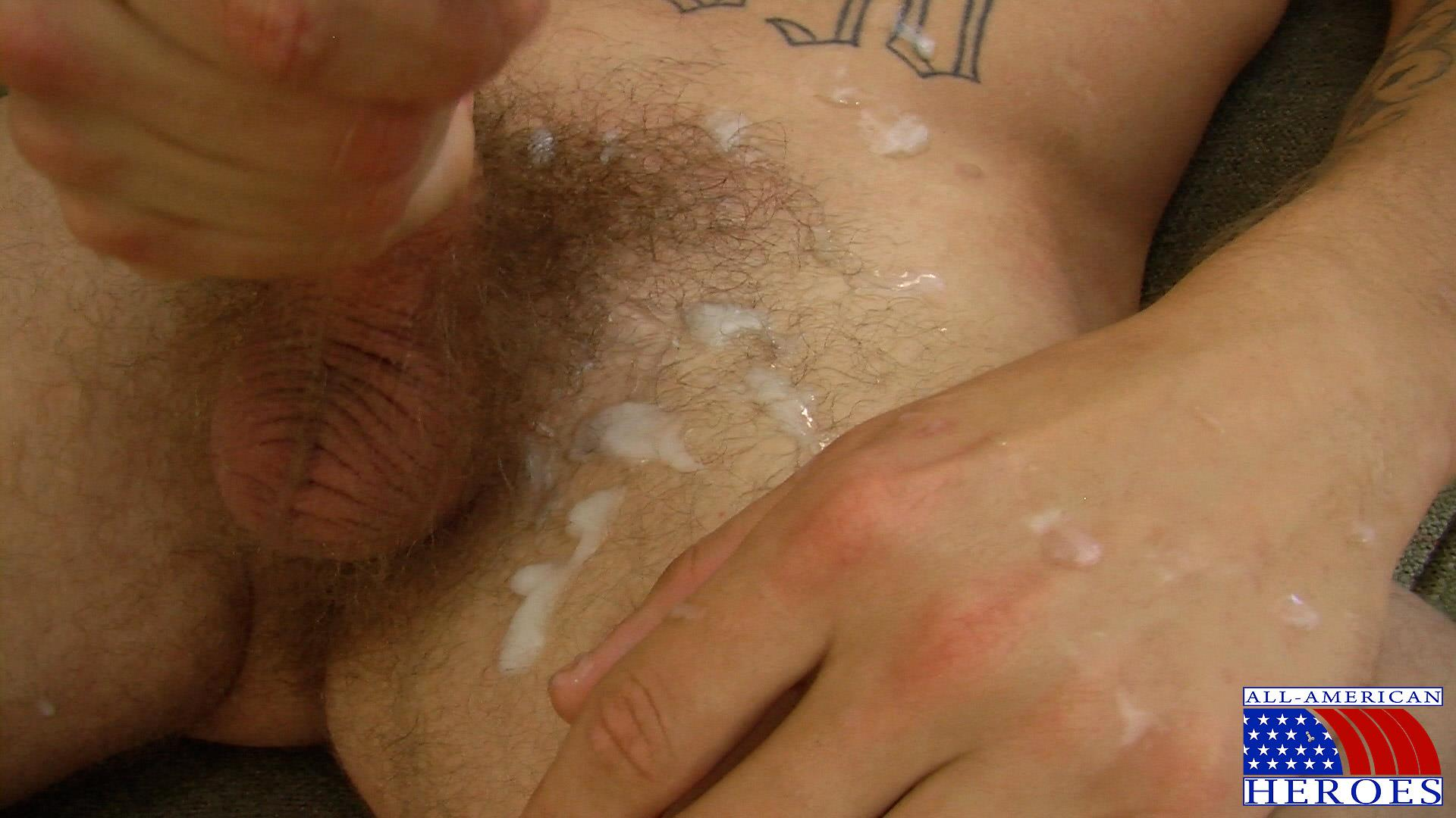 All American Heroes US Army Specialist Clark Jerking His Big Hairy Cock Amateur Gay Porn 15 US Army Specialist Masturbating His Hairy Curved Cock