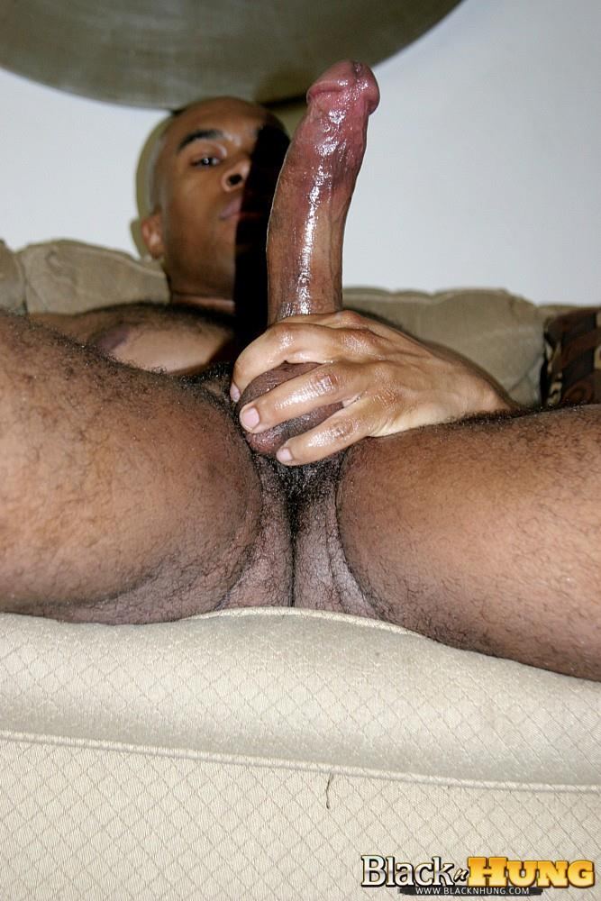 Gay Big Black Pole Jerking