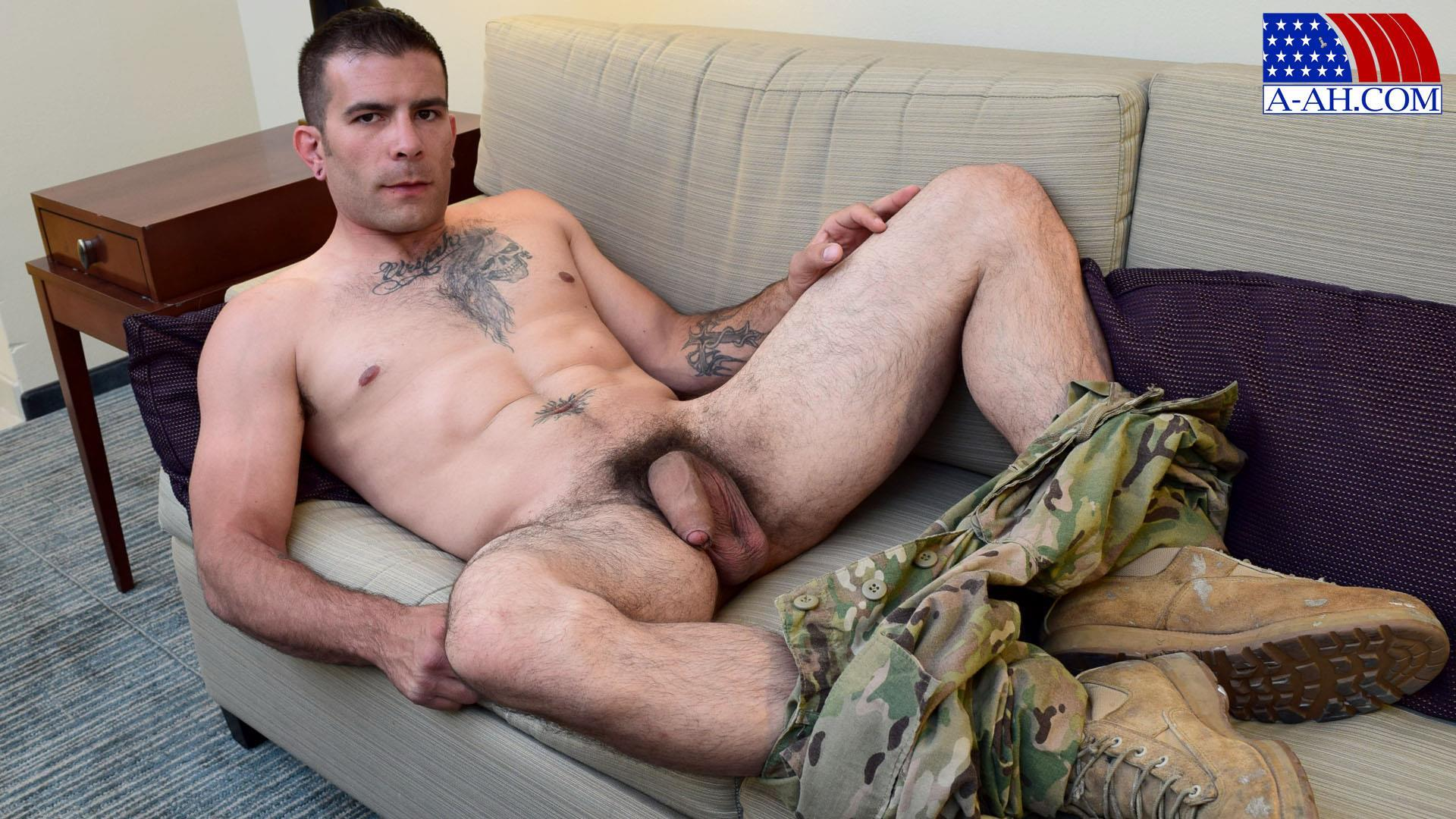 Hot verbal military gay a insatiable