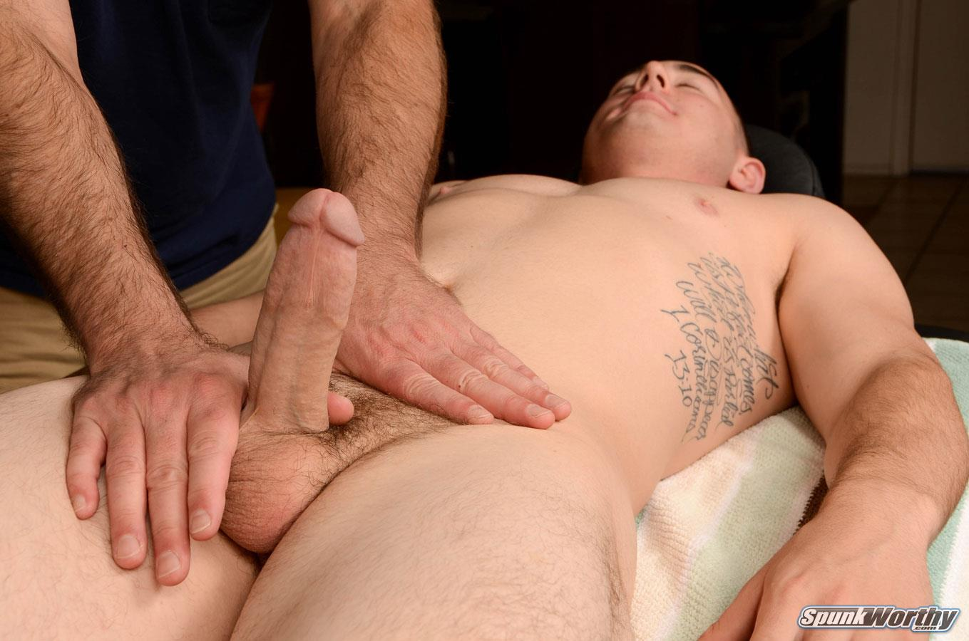 boy getting handjob