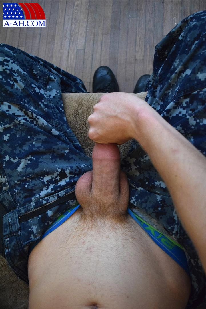 All American Heroes Petty Officer Jacob Big Cock Jerk Off Naked Navy Guy Amateur Gay Porn 05 Young Navy Petty Officer Jerking His Thick Cock & Fingering His Ass