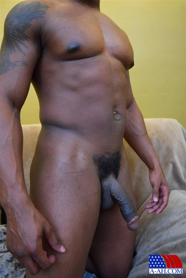 All-American-Heroes-Sean-Muscle-Navy-Petty-Officer-Jerking-Big-Black-Cock-Amateur-Gay-Porn-14 Big Muscular Black Navy Petty Officer Jerking His Big Black Cock