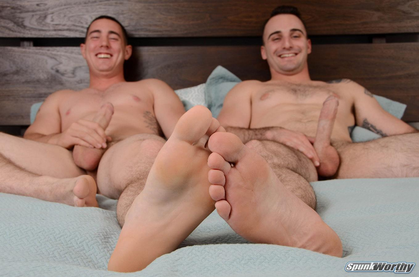 SpunkWorthy Damien and Tom Army Buddies Jerking Off Together Army Cock Amateur Gay Porn 07 Straight Army Boys Share Some Jerkoff Time Together