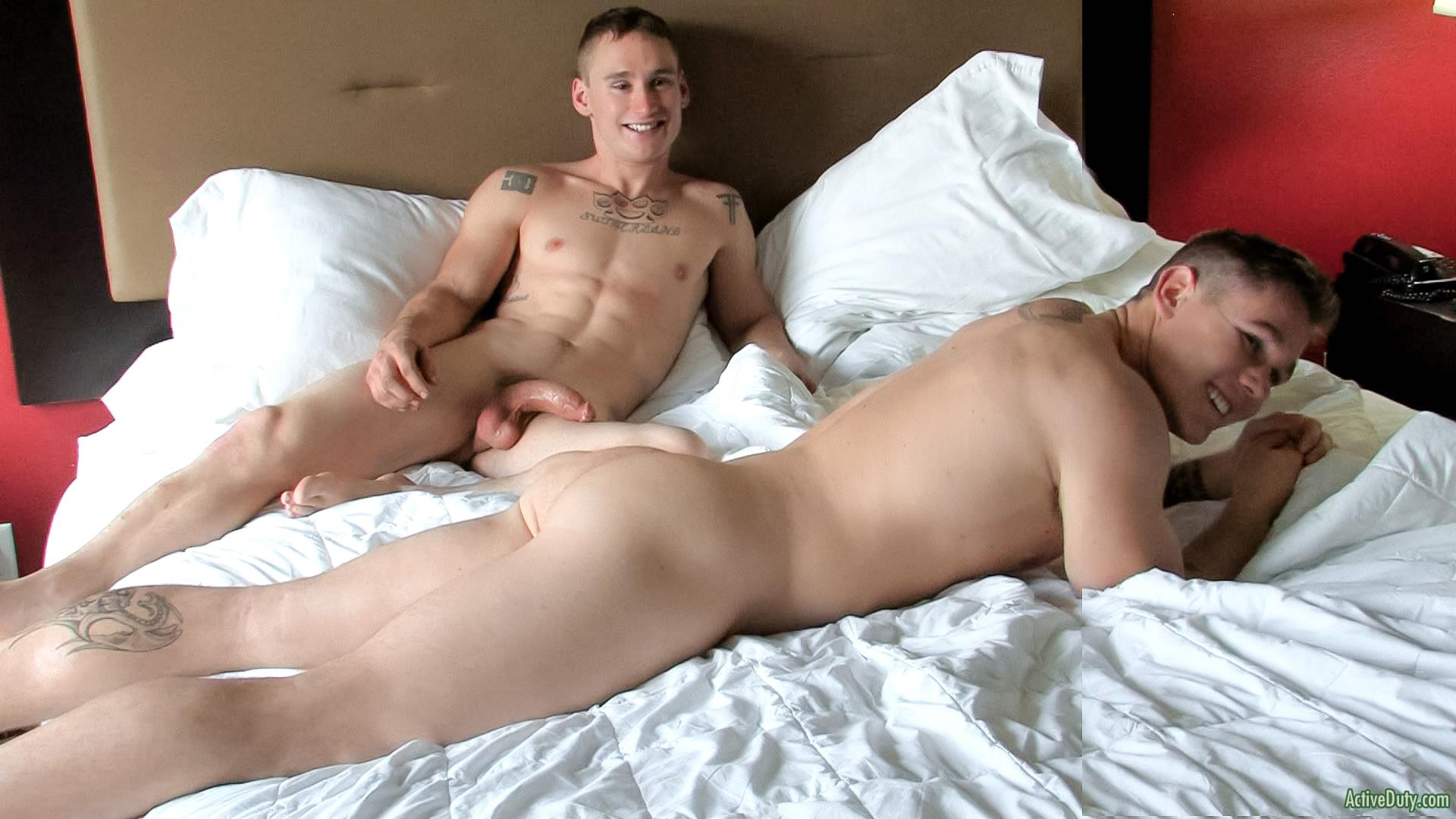 Sexy gay men in bed