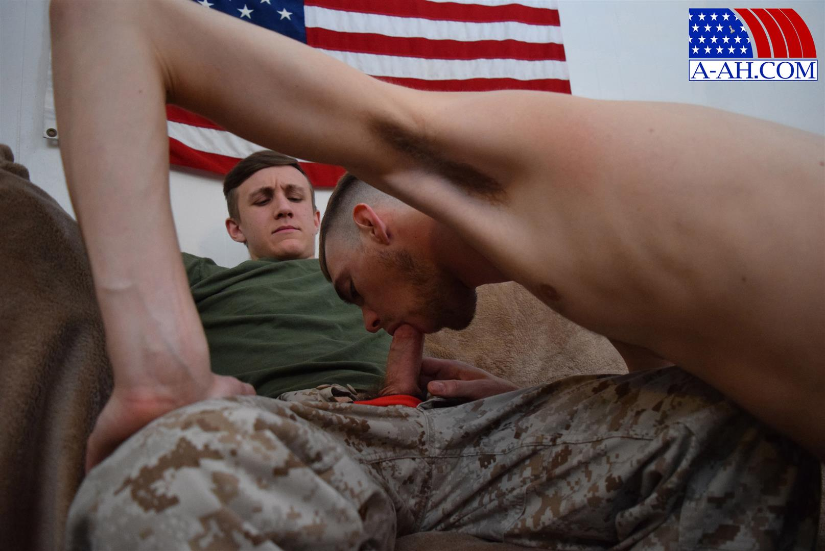 All American Heroes Jett and Alex Naked Army Guy Gets First Gay Blowjob Amateur Gay Porn 05 Straight Army Private Gets A Foot Massage and His First Gay Blow Job