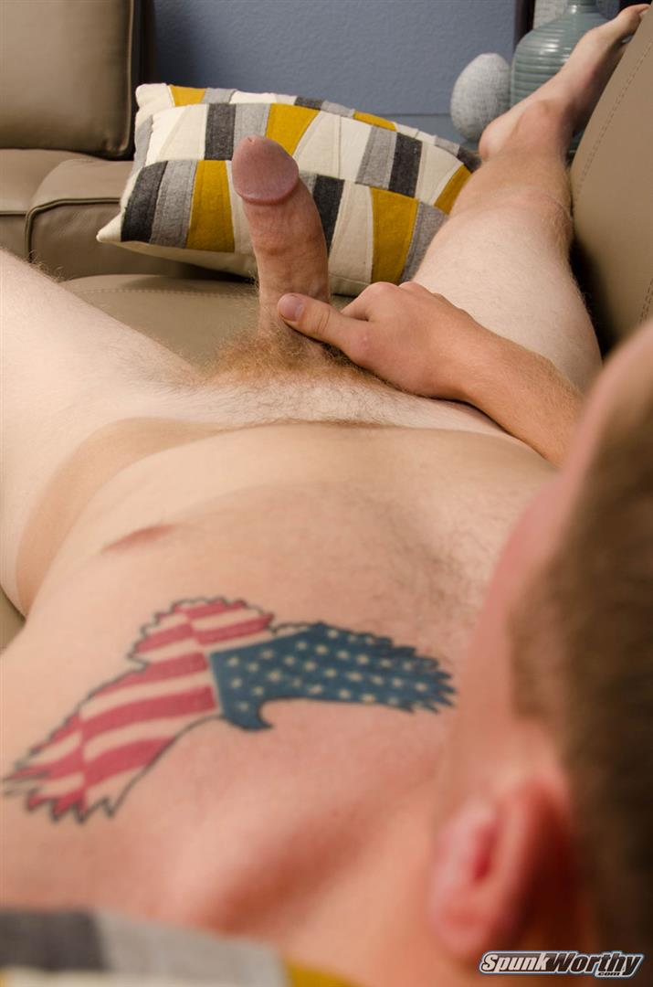 SpunkWorthy Kenny Straight Redheaded Army Guy Jerking Off Cock Amateur Gay Porn 16 Straight Young Military Guy Stroking His Ginger Cock