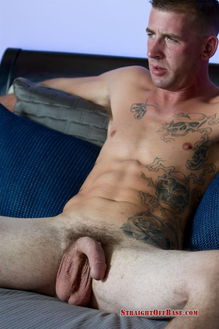 Straight-Off-Base-Naked-Marine-Jerking-Off-Dean-Amateur-Gay-Porn-08 Straight US Marine Sergeant Rubs One Out Of His 8