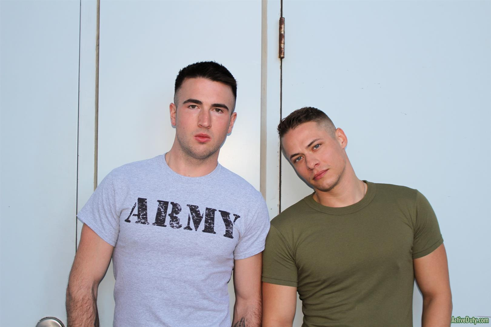 Active Duty Jay Ice and Aston Springs Straight Army Guys Gay Bareback Sex 05 Muscular Straight Army Guys Bareback Fucking For Money