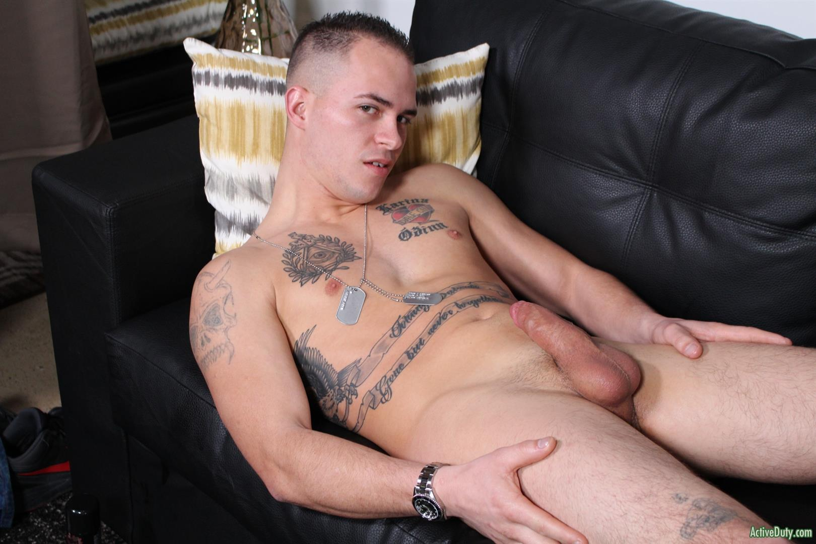 Active Duty Richard Buldger Naked Marine Jerking Off Big Dick 11 Naked Marine Jerks Off And Shoots A Load of Cum