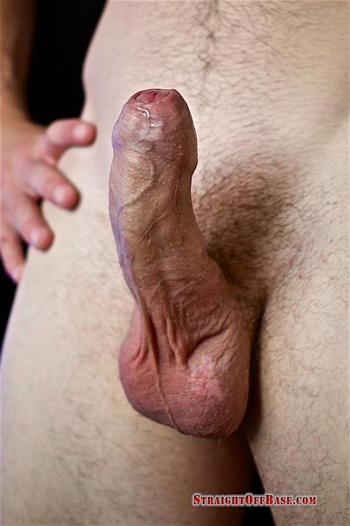 Straight-Off-Base-Aamon-Naked-Marine-With-A-Big-Uncut-Cock-17 Irish-American US Marine Naked And Stroking His Big Uncut Cock