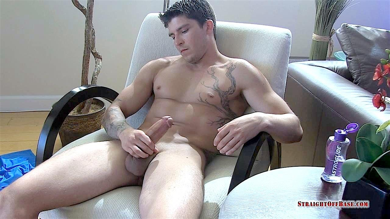 Straight Off Base Tyson Navy Officer Big Dick Jerk Off 17 Muscular Navy Petty Officer Strokes his Big Fat Cock