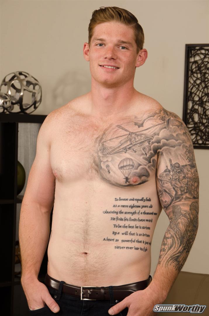 Marine naked redhead