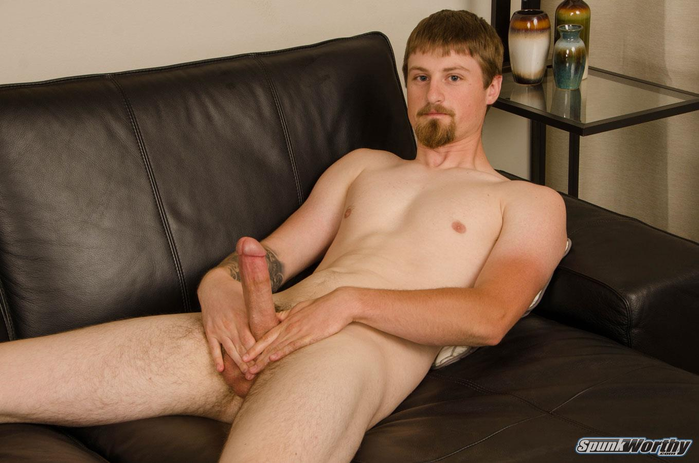 SpunkWorthy-Sutter-Straight-Naked-Sailor-Jerking-Off-Big-Cock-15 Tall Straight Navy Sailor Shoots A Big Load From His 8