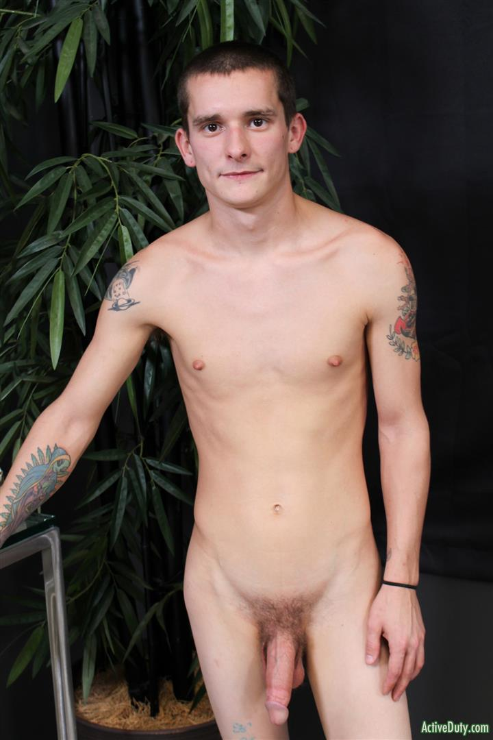 Active-Duty-Cole-Bantam-Naked-Army-Soldier-With-A-Big-Cock-Jerking-Off-12 Army Private Cole Bantam Stroking His Big Cock