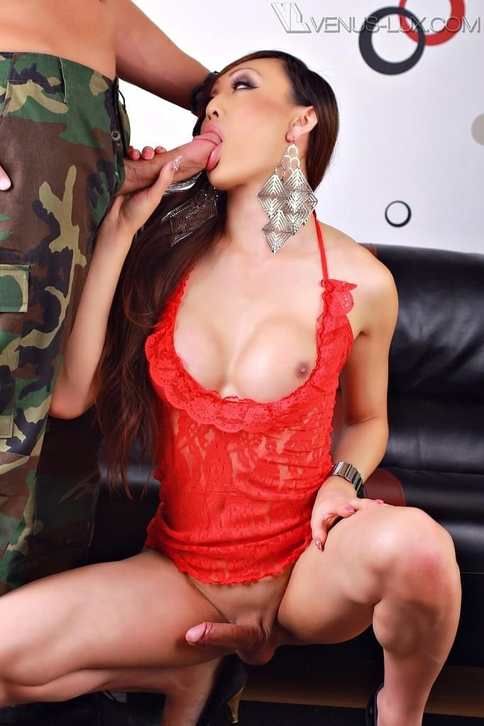 Venus-Lux-Army-Private-Gets-Fucked-Bareback-By-A-Tranny-061 US Army Private Gets Fucked In The Ass Bareback By A Tranny