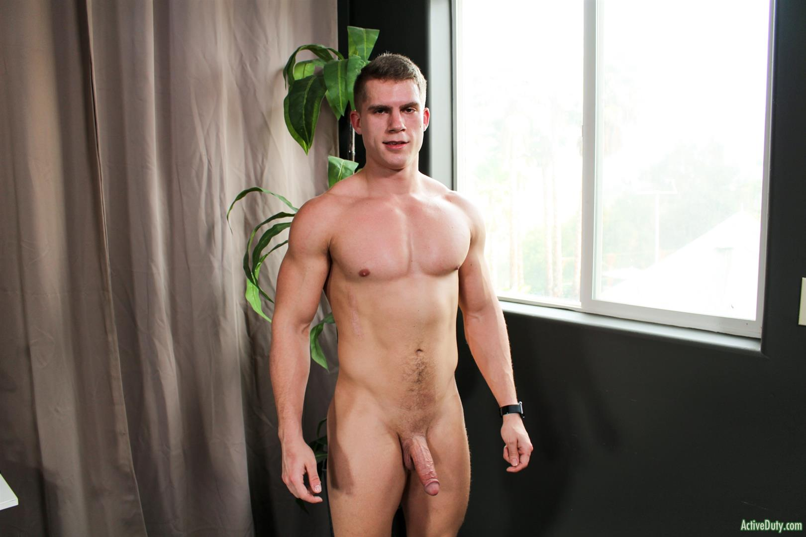 Active-Duty-Danny-D-Naked-US-Marine-Jerking-Off-His-Big-Cock-11 Naked Muscular US Marine Jerking Off His Big Cock