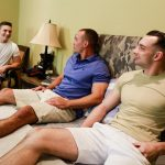 Active-Duty-Marc-Montana-and-Spencer-Laval-and-Johnny-B-Naked-Marines-Bareback-01-150x150 Hung Muscular Marines Bareback Threeway Fuck