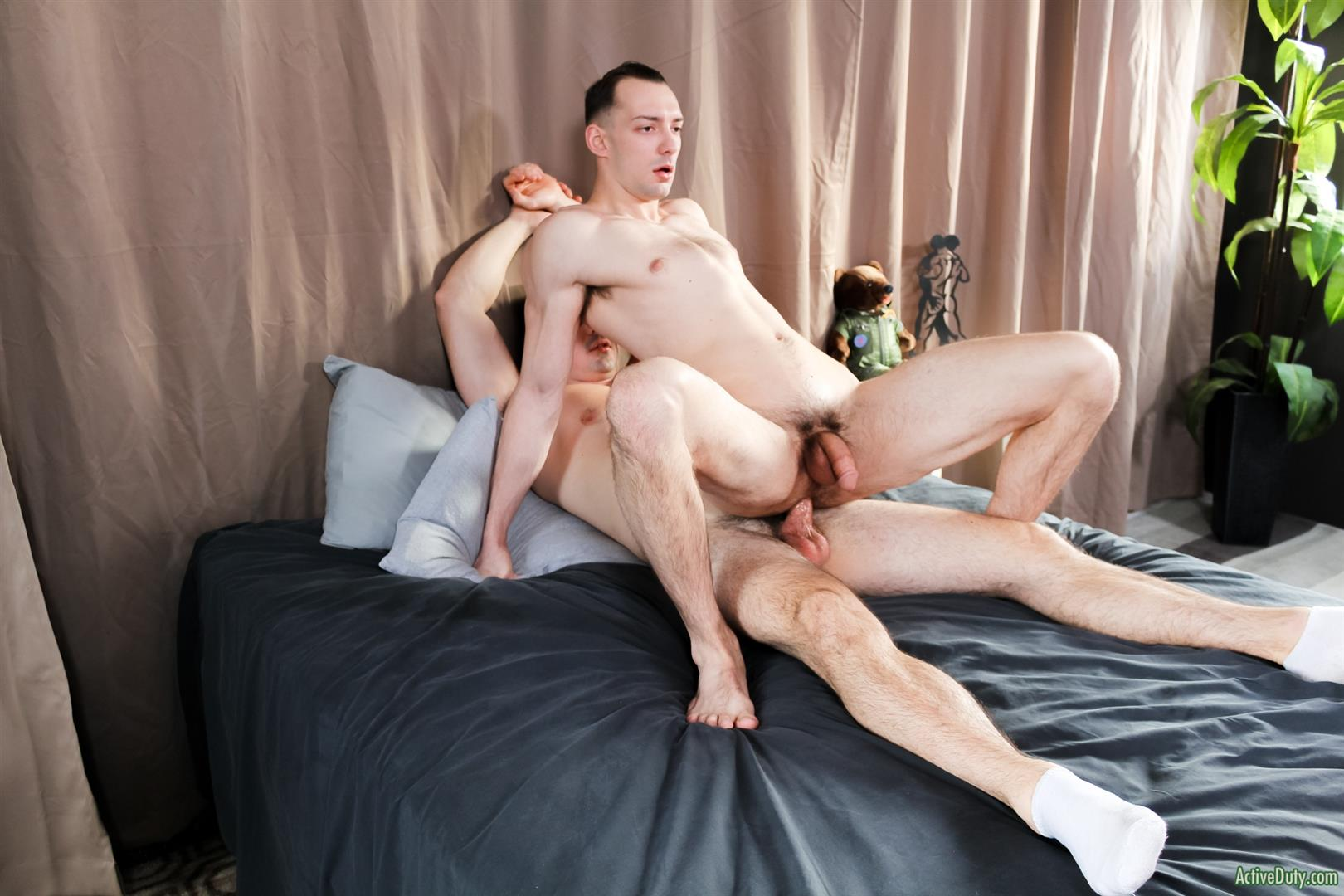 Active-Duty-Alex-James-and-Johnny-B-Big-Dick-Marines-Fucking-Bareback-10 Muscular US Marines Bareback Fucking With A Thick Cock