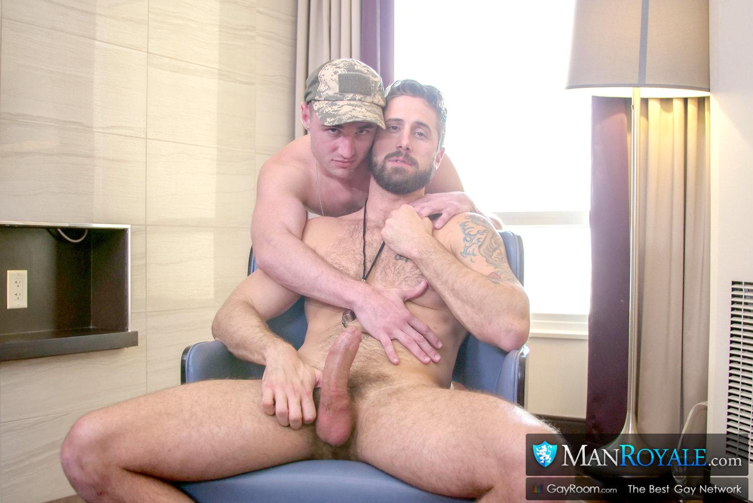Man-Royale-Wesley-Woods-and-Michael-Boston-Big-Dick-Army-Soldier-Getting-Fucked-03 Sending The Boy Off To Boot Camp With A Hard Fucking And A Cum Facial